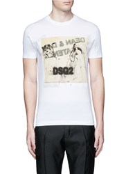 Dsquared Graphic Print T Shirt White
