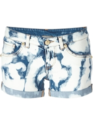 Fausto Puglisi Bleached Denim Shorts Blue
