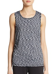 Saks Fifth Avenue Blue Space Dye Tank Black
