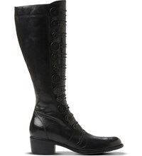 Dune Pixie D Leather Knee High Boots Black Leather