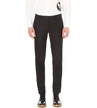 Dsquared Tokyo Regular Fit Wool And Silk Blend Trousers Black