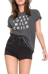 Amuse Society Women's Amused Cali Vibes Graphic Tee Charcoal