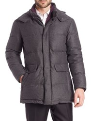 Isaia Quilted Wool Jacket Grey