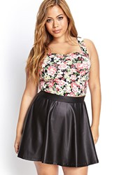 Forever 21 Plus Size Faux Leather Skater Skirt