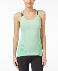 Calvin Klein Performance Space Dyed Racerback Tank Top Midori Green