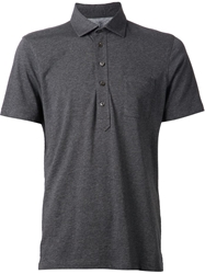 Brunello Cucinelli Fitted Polo Shirt Grey
