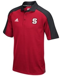 Adidas Men's North Carolina State Wolfpack Sideline Polo Shirt Red