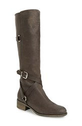 Charles David Women's 'Germana' Riding Boot Black Pull Up Leather