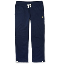 Polo Ralph Lauren Fleece Back Cotton Blend Jersey Sweatpants Blue