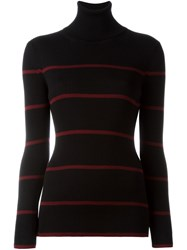 Fendi Striped Jumper Black