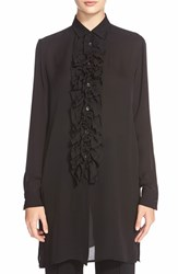 Women's Etro Ruffled Silk Tunic Blouse