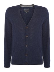 Howick Men's Arlington 100 Lambswool Cardigan Indigo