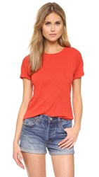 Madewell Whisper Cotton Crew Tee Tropical Coral