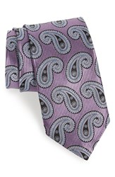 J.Z. Richards Men's Paisley Silk Tie Purple