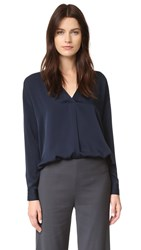 Vince Crossover V Blouse Coastal