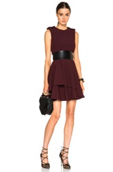Alexander Mcqueen Peplum Mini Dress In Red Purple
