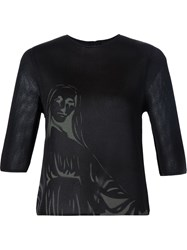 Dominic Louis Printed Mesh T Shirt Black