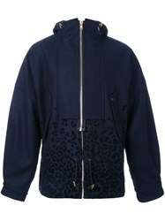 Kolor Zipped Hooded Jacket Blue