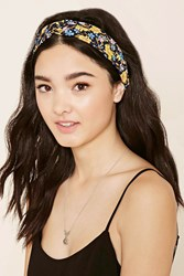 Forever 21 Twisted Floral Headwrap