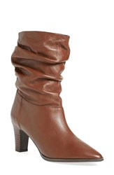 Women's Adrianna Papell 'Noelle' Ruched Mid Boot Luggage Mestizo Leather