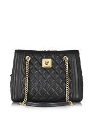 Love Moschino Black Quilted Eco Leather Satchel