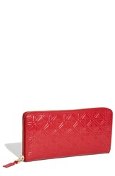 Women's Comme Des Garcons Continental Long Wallet Red Star Red