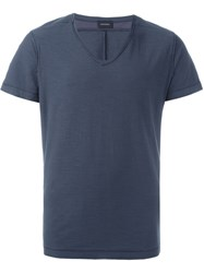 Diesel V Neck T Shirt Blue