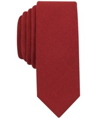 Penguin Men's Dario Solid Slim Tie Burgandy