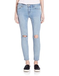 Free People Dstressed Skinny Jeans Brass