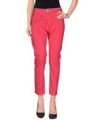 Annarita N. Trousers 3 4 Length Trousers Women Fuchsia