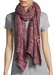 Bajra Woven Wool Scarf Red