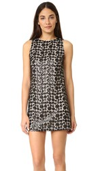 Alice Olivia Clyde Sequin Shift Dress Black Sesame
