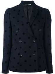 Paul Smith Ps By Polka Dot Double Breasted Jacket Blue