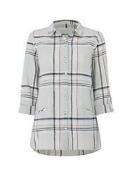White Stuff Effortless Check Shirt Multi Coloured