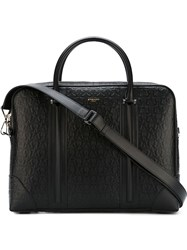 Givenchy Star Embossed Briefcase Black
