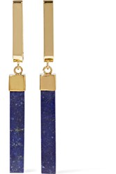 Isabel Marant Gold Plated Lapis Lazuli Earrings Navy