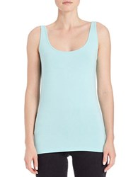 Lord And Taylor Petite Iconic Fit Tank Top Aqua Splash