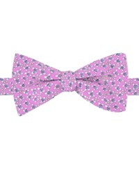 Tommy Hilfiger Men's Floral Print To Tie Bow Tie Pink