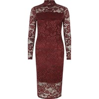 River Island Womens Burgundy Lace Bodycon Dress Red