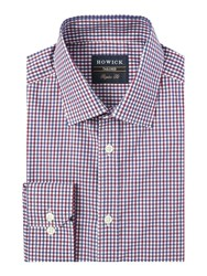 Howick Belleville Gingham Twill Shirt Red