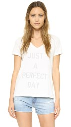 Sol Angeles Perfect Day V Neck Tee White