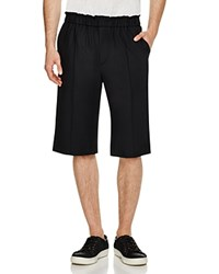 Public School Acklin Stretch Wool Suiting Shorts Black