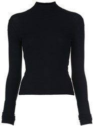 Getting Back To Square One High Neck Top Black