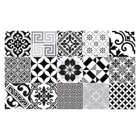 Beija Flor Eclectic Vinyl Floor Mat Black And White Runner