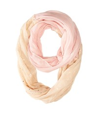 Betsey Johnson Color Block Foil Crinkle Loop Scarf Blush Scarves Pink