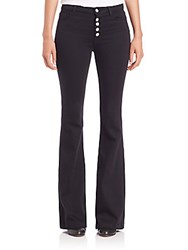 J Brand Flared Slim Fit Pants Seriously Black