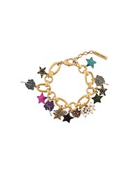 Marc Jacobs Statement Charm Bracelet Metallic