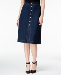 Styleandco. Style Co. Petite Button Front Denim Skirt Only At Macy's Faroe