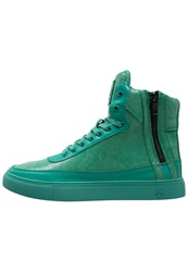 Criminal Damage Hightop Trainers Emerald Turquoise