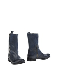 Manila Grace Ankle Boots Dark Blue